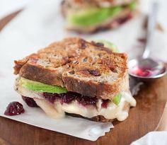 Grilled Brie, Turkey, Cranberry & Avocado Sandwich