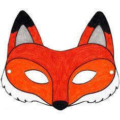 Pdf masque renard a colorier deguisements pinterest masque renard masque et renard - Masque de renard a imprimer ...