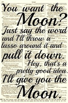 Lasso the Moon It's a Wonderful Life Quote by reimaginationprints, $10.00