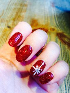 Festive Christmas nails! #christmas #nails #sns