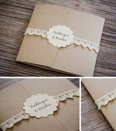 faire part de mariage dentelle plus - Boutonnire Invit Mariage