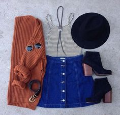 a-line skirt outfit