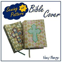 Bible or Book Cover .pdf Sewing Pattern/Tutorial  by NavyMango, $5.50