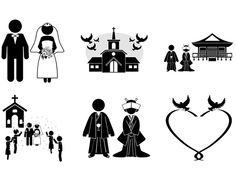 Wedding relationship   Free illustration   Pictogram material Wedding venue / Western style / Japanese style / shrine / kimono / suit / love / blessing / friends / at the church wedding ceremony / Meeting / dancer / wife / wedding anniversary Wedding / Venue / Groom / Bride / Pastor / Church / Illustration #Groom #bride #church #shrine #priest #bride #groom #heart #pigeon #wedding ceremony