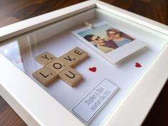 Love You Photo Frame Personalised Scrabble by TheLittleBlueJumper