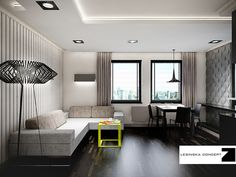 CAPTAIN APARTMENT by LESINSKA CONCEPT , via Behance