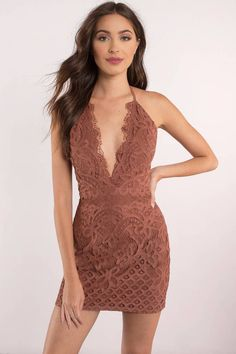 Designed by Tobi. Featuring a halter neckline and lace detail. Pair this dress with nude booties and a sunhat.  - Fast & Free Shipping For Orders over $50 - Free Returns within 30 days!