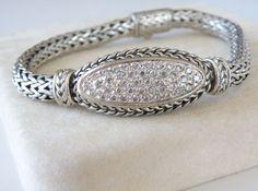"HEAVY JH Style Sterling Silver 925 Byzantine Etruscan Bracelet Mens Womens 8"" #JohnHardyStyle #Chain #JohnHardyStyleBracelet #SterlingJewelry #UniqueSterlingJewelry #ByzantineBracelet #EtruscanBracelet"