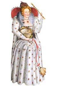 Elizabeth I Greeting Card: Renaissance Costumes, Medieval Clothing, Madrigal Costume: The Tudor Shoppe