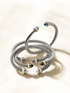 Purple and Black PLEASE Santa . New from the David Yurman Cable Classics Collection.