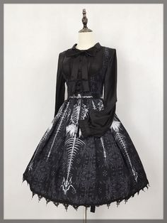 The Devil's Bones Gothic Lolita Corset Jumper Dress