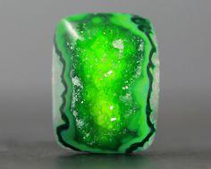 Green Drusy Quartz Cab  http://www.arcreactions.com/transparent-plastic-business-cards-2/