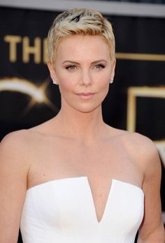 We couldn't stop staring at Charlize Theron's perfect skin.