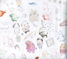 """Back endpaper from """"The Monster Returns"""", Peter McCarty 2012"""