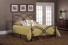 Hillsdale Furniture 1163BKR Barcelona Bed Set - King - with Rails