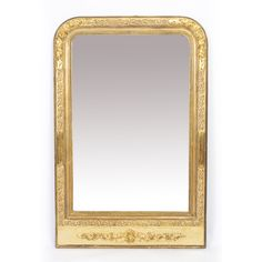 Stylish Antique Louis Phillipe Style Mirror C1900 Pale Grey Fashionable And Attractive Packages Mirrors 20th Century