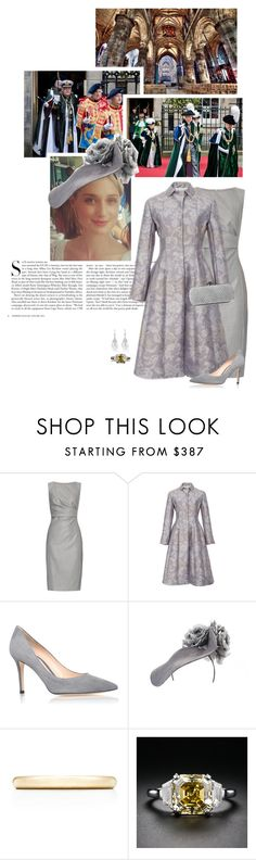 """""""(V) Attends the Order of the Thistle service at St Giles' Cathedral, Edinburgh"""" by immortal-longings ❤ liked on Polyvore featuring Giles, Kershaw, MaxMara, Oscar de la Renta, Gianvito Rossi, Tiffany & Co. and Bottega Veneta"""
