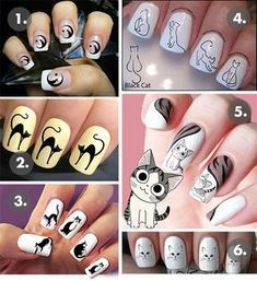 Cat Style Trend Alert: Your Ultimate Shopping Guide for Cat Nail Decals! Cat Nail Designs, Holiday Nail Designs, Cat Nail Art, Cat Nails, Nail Decals, Christmas Nail Art, Stylish Nails, Nail Stamping, Nail Arts