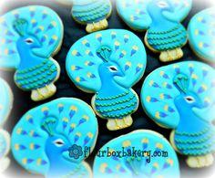 Flour Box Bakery — Peacock Cookie Favor