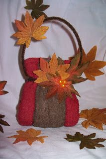 Candy, Cake, and Crafts: Washcloth Purse - Fall theme