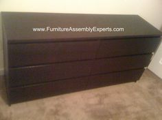 IKEA Malm 6 drawers dresser assembled in Takoma Park MD by Furniture Assembly Experts Company