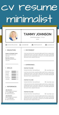 If you want to get hired for a job position, you must make a creative and impressive resume template instant download. Creating one isn't an arduous task if you know what's required and what's in demand in the industry. If you want to experience hassle-free resume editing. #ResumeAndCoverLetterTemplate#ResumeTemplateInstantDownload#ResumeTemplateWord#ResumeWordTemplate#CreativeResumeTemplate Teaching Resume Examples, Sales Resume Examples, Resume Objective Examples, Resume Action Words, Resume Words, Resume Writing, Resume Skills List, Reference Page For Resume, Sorority Resume