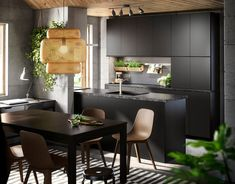 Ikea kitchen, made with recycled plastic bottles Ikea Kitchen, Living Room Kitchen, Rustic Kitchen, Kitchen Decor, Black And Grey Kitchen, Black Kitchens, Home Kitchens, Kitchen Layout, Kitchen Design