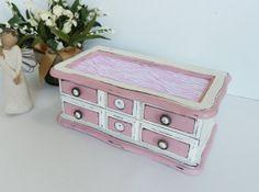 Girls Jewelry Box Ladies Jewelry Storage by TreasuresbyMarylou, $35.00