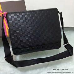 Louis Vuitton N41284 District MM Messenger Bag Damier Infini Leather