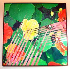Nasturtium Salad by James Rosenquist, oil on canvas, x 1984 abstract realism Jasper Johns, Peter Blake, Robert Rauschenberg, Roy Lichtenstein, Pop Art, David Hockney, Andy Warhol, Richard Hamilton, James Rosenquist