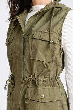4ad5e3776ac9e Shop Jess Lea Boutique Katey Cargo Hooded Vest  jessleaboutique  jesslea   jessleastyle  onlineboutique