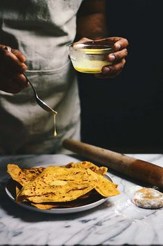 chickpea besan parathas/ an indian flatbread   A Brown Table