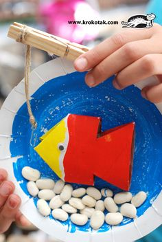 colague fish, plate, toilet paper tube, kids craft