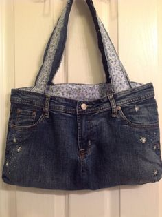 Upcycled Denim Purse/Bag by HookinUp on Etsy, $28.00