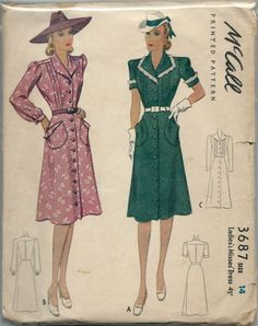 McCall 3687: Ladies' and misses' dress