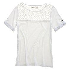 Darling summer shirt - windowpane lace tee from Madewell