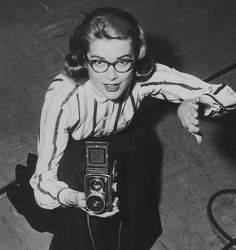 """Grace Kelly (from """"the clothes horse"""") - makes me want new (vintage-looking) glasses!"""