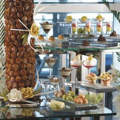 At The Ritz-Carlton, Fort Lauderdale, the chefs recommend creating a dessert table with different dimensions, height and colors for you next event.