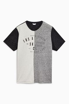 41cd82cab7c Buy Grey Split Graphic T-Shirt from Next Spain