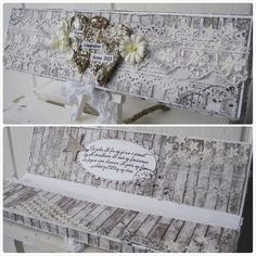 Chocolate Wrapping Card by LLC DT Member Elin Torbergsen. Papers from Maja Design's Vintage Summer Basics collection.