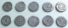 Antique Buttons Stamped Steel Vintage Button by IrrenaysTreasures
