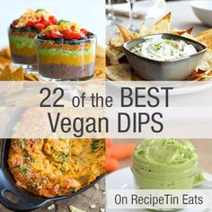 22 of the best vegan dips