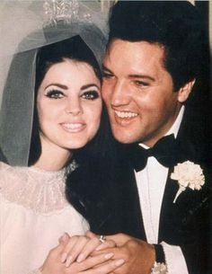 Priscilla and Elvis tie the knot May 1, 1967 at the Aladdin Hotel in Las Vegas