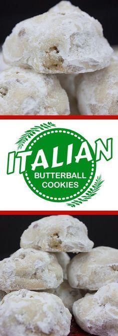 Italian Butterball Cookies – Tender, melt in your mouth deliciousness! Italian Butterball Cookies – Tender, melt in your mouth deliciousness! No Bake Cookies, Yummy Cookies, Holiday Cookies, Cake Cookies, Cookies Et Biscuits, Almond Cookies, Chocolate Cookies, Cupcakes, Cookies Vegan