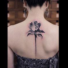 Rosa en blanco y negro
