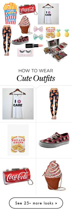 """""""Food outfit"""" by natalybelle on Polyvore featuring Jessica McClintock, Goldsheep, Vans, Pink Mint, Living Royal, Smashbox and Boohoo"""