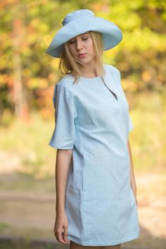 Linen Tunic Dress by LGlinen on Etsy