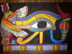 Waldorf ~ 5th grade ~ Ancient Egypt ~ The Eye of Horus ~ chalkboard drawing