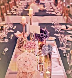 LOVE the mirror under the flowers and candles!