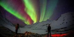 Filip Brala za vrijeme fotografiranja aurore borealis (Foto: Filip Brala)